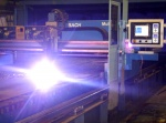 Plasma oxygen cutting of sheet products