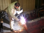 Steelworks welding in M-5 workshop